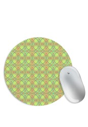 Yellow Abstract Twirls Mouse Pad