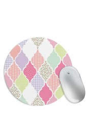 Abstract White & Pink Design Mouse Pad