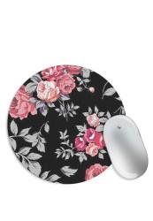Black Floral Mouse Pad