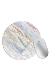 White Bronze Marble Mouse Pad