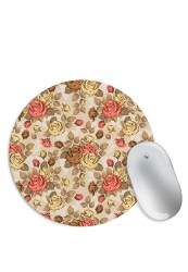 Old age Rose Pattern Mouse Pad