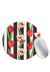 Rose and Stripes Mouse Pad