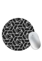 Seamless Abstract Black and White Mouse Pad