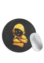 Yellow Hoodie Boy Mouse Pad