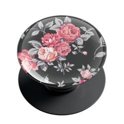 Black Floral Phone Grip