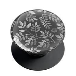 Charcoal Floral Phone Grip