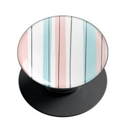 Pastel Blue Pink Lines Phone Grip