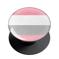 Pink and Grey Shade Stripes Phone Grip