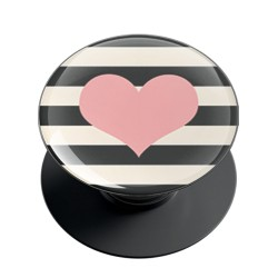 Stripes and Heart Phone Grip