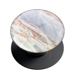 White Bronze Marble Phone Grip