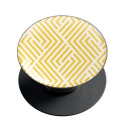 Yellow Geometric Pattern Phone Grip