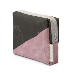 Black and Pink Marble Coin Purse