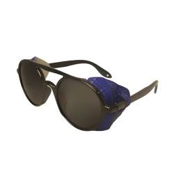 Inkmesilly Double Bridge Rounded Sunglasses