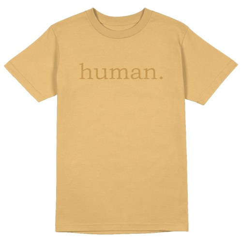 Human. Round Collar Cotton Tshirt