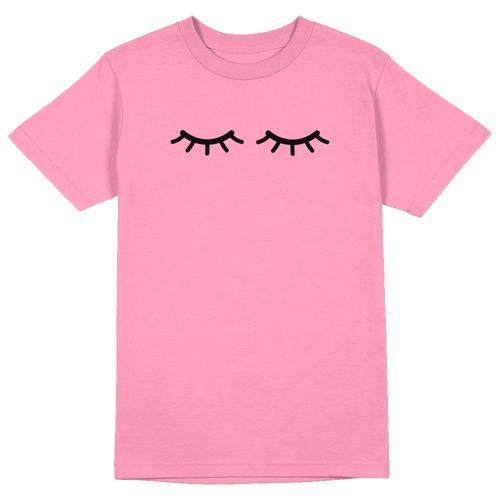 Lashes Round Collar Cotton Tshirt