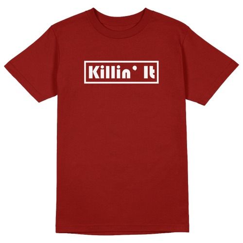 Killin' It Round Collar Cotton Tshirt