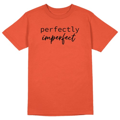 Perfectly Imperfect Round Collar Cotton Tshirt
