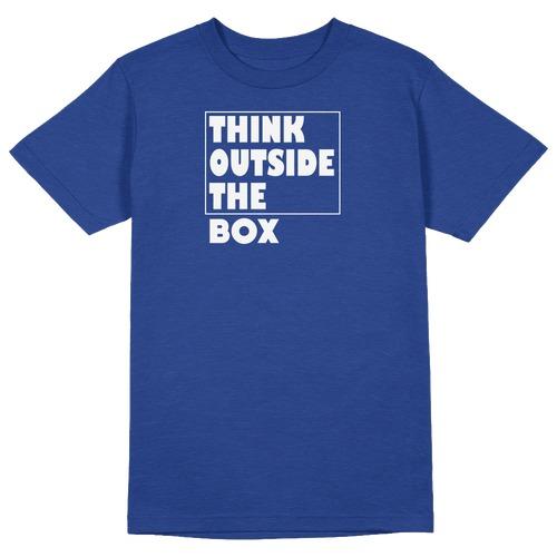 Think Outside the Box Round Collar Cotton Tshirt