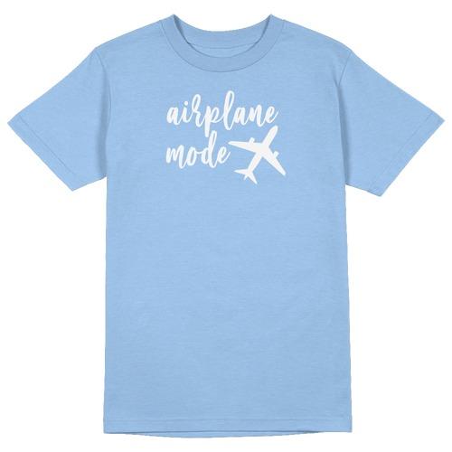 Airplane Mode Round Collar Cotton Tshirt