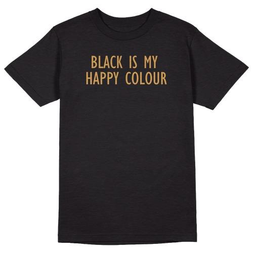 Black is My Happy Colour Round Collar Cotton Tshirt