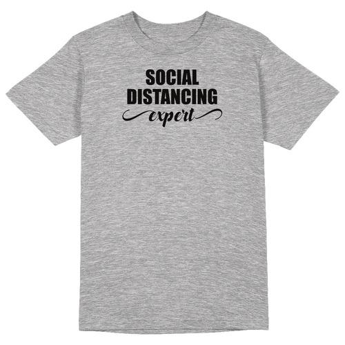 Social Distancing Expert Round Collar Cotton Tshirt