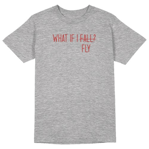 What if I Fly Round Collar Cotton Tshirt