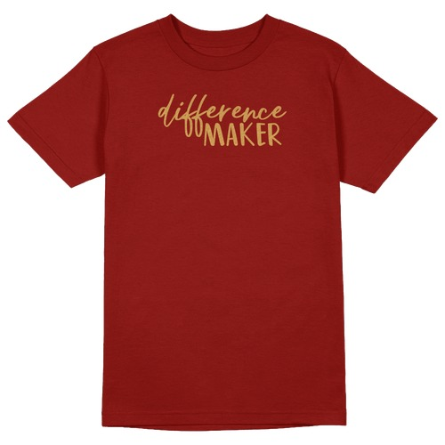 Difference Maker Round Collar Cotton Tshirt