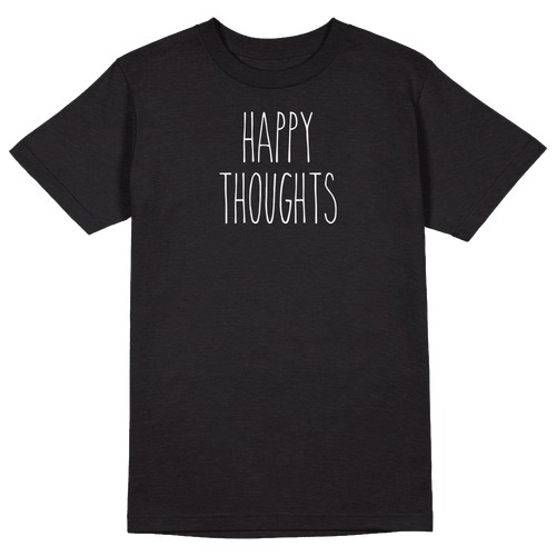 Happy Thoughts Round Collar Cotton Tshirt