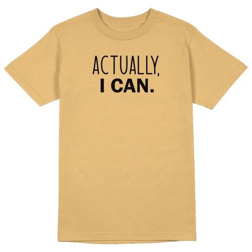 Actually I Can Round Collar Cotton Tshirt