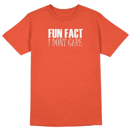 Fun Fact. I don't Care Round Collar Cotton Tshirt
