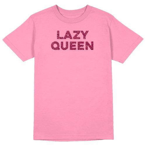 Lazy Queen Round Collar Cotton Tshirt