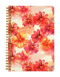 Bright Abstract Watercolor Floral Notebook