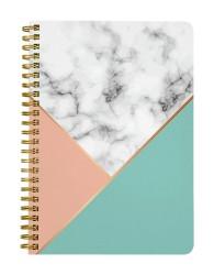 Classic Geometric Marble Notebook