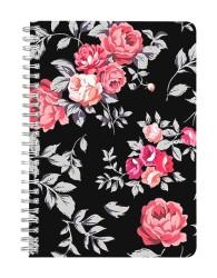 Black Floral Notebook