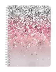 Silver Pink Shades Notebook