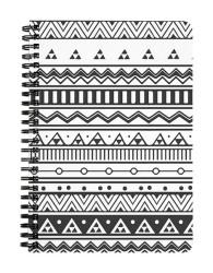 Aztec Print Black & White Notebook