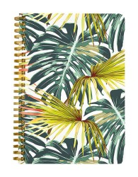 Floral Painted Leaf Notebook