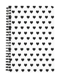 Black & White Hearts Notebook