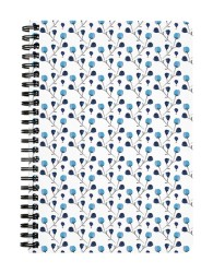 Blue Minimal Floral Notebook