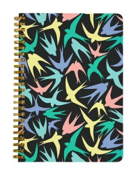 Colourful Birds Abstract Notebook