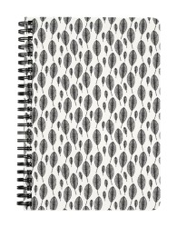 Feather Pattern Black & White Notebook