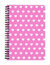 Pink White Hearts Notebook