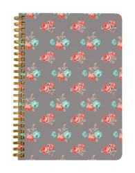 Grey Red Roses Notebook