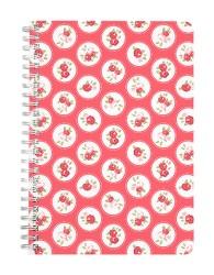 Rose Circular Red Pattern Notebook