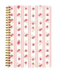 Rose Vertical Red Pattern Notebook