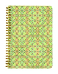 Yellow Abstract Twirls Notebook