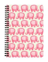 Cute & Lazy Elephant Pattern Notebook