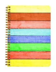 Repainted Old Wood Notebook