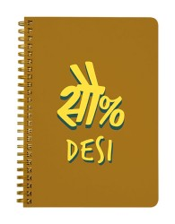 100 Percent Desi Notebook