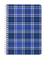 Blue Shirt Pattern Notebook